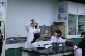 田原さんによる実験授業