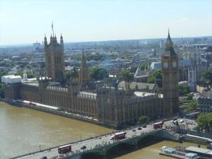 ロンドン・アイからのエリザベスタワー