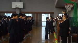 サッカー優勝クラスの表彰